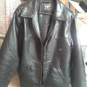 Reportage RGA Black Leather Jacket